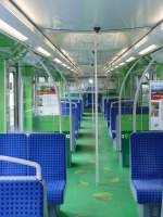 BR 474/146728/auch-das-innere-wurde-umgestaltet-nur Auch das Innere wurde umgestaltet. Nur die Decke, Haltestangen und die Sitzbezüge haben noch die original Farbe.