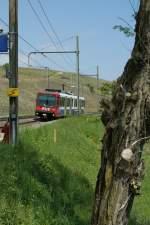 bem-550/15683/bem-550-auf-der-fahrt-von Bem 550 auf der Fahrt von Genève nach la Plaine in russin am 1. Mai 2009