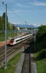 icn/16914/icn-nach-genve-bei-der-durchfahrt ICN nach Genève bei der Durchfahrt in Bussigny 7. Mai 2009